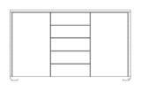 Wiemann Catania | Kombikommode, 5 Auszüge, 2 Türen