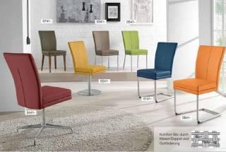 Niehoff Sitzmöbel | COLORADO Stuhlsystem - mit 4-Fuß Quadratrohr Edelstahl gebürstet 0341-02-xxx