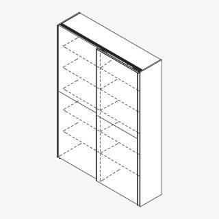 Röhr Techno | Schiebetürenschrank für Akten Typ 490 - 6 Ordnerhöhen
