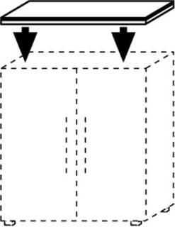 Röhr Objekt.Plus   Abdeckplatte für Aktenschränke 40,0 bis 200,0 cm Breite