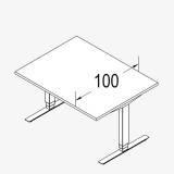 Röhr Techno | Rechteckschreibtisch T-Fuß Multi mit stufenloser elektrischer Höhenverstellung - 100er Tiefe