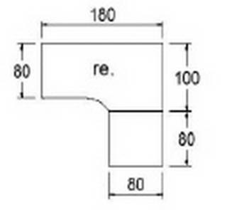 Röhr Techno | Freiformschreibtisch mit 4-Fuß-Gestell und Winkelkombi - 180 /200 x 180 cm