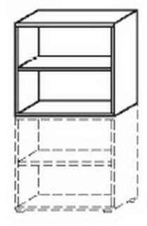 Röhr Objekt.Plus | Aufsatzelement 2 OH offen mit Rückwand 80 cm breit - Typ U19
