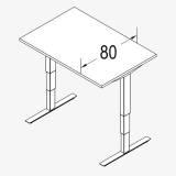 Röhr Techno | Rechteckschreibtisch T-Fuß Multi mit stufenloser elektrischer Höhenverstellung - 80er Tiefe