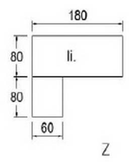 Typ E91l - Links anbaubar / 180 cm breit