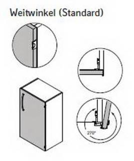 Weitwinkel-Scharniere (Standard)