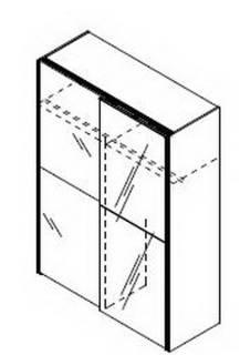 H61 - mit 1 Spiegeltür